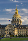 Evening over Hotel les Invalides  Paris  France