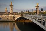 River Seine  Pont Alexandre III and Hotel les Invalides  Paris  France