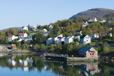Finnsnes Norway Cruise Hurtigruten Town with Colorful Homes