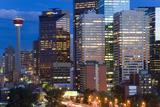 City at Dusk  Calgary  Alberta  Canada