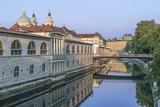 Slovenia  Ljubljana  Ljubljana River and Old Town at Dawn