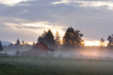 Canada  BC  Vancouver Island Barn on a Farm in the Cowichan Valley