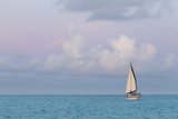 Bahamas  Exuma Island Sailboat at Sunset
