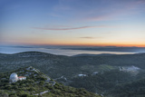 Croatia  Dalmatia  Hvar Island  Dawn from Napoleon Fort