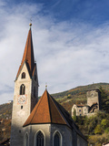 Klausen  Old Town and Church  Castle Branzoll  South Tyrol  Italy