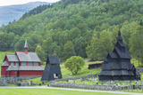 Borgund  Norway  Borgund Stave Church with Unique Medieval Bell Tower