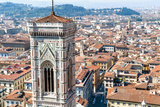 Campanile of Giotto and City View   Florence  Tuscany  Italy