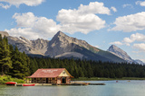 Canada  Alberta  Jasper National Park  Maligne Lake and Boat House