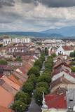 Romania  Transylvania  Bistrita  View from the Evangelical Church