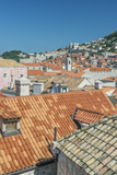 Croatia  Dubrovnik  Old Town Rooftops from the City Wall