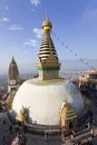 Swayambhunath Buddhist Stupa or Monkey Temple  Kathmandu  Nepal