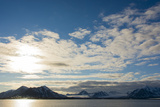 Norway Svalbard Spitsbergen Forlandsundet Clouds and Midnight Sun
