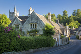 Early Morning in Castle Combe  the Cotswolds  Wiltshire  England