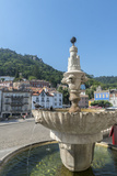 Portugal  Sintra  Sintra Palace Fountain Overlooking the Main Square