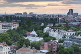 Bulgaria  Southern Mountains  Plovdiv  View from Nebet Tepe Hill  Dusk
