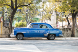 Blue 1951 Chevrolet Vintage Car on Streets of Regla  Cuba