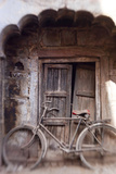 Bicycle in Doorway  Jodhpur  Rajasthan  India
