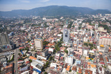 Aerial Views over the City of Penang  Malaysia