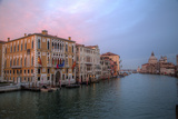 Sunset Along the Grand Canal and Salute  Venice  Italy