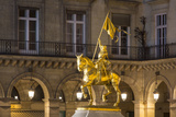 Equestrian Statue of Joan of Arc at Place Des Pyramides  Paris  France