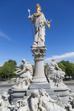 Statues in Front of Parliament Building  Vienna  Austria