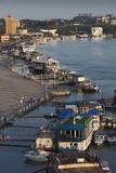 Romania  Tulcea  the Tulcea Port on the Danube River  Dawn
