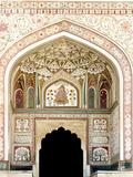 Architectural Detail Amber Fort Jaipur Rajasthan India