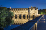 Twilight over Chateau Chenonceau in the Loire Valley  Centre France