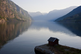 Fishing Hut  Near Flam  Aurlandsfjord  Norway