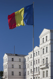 Romania  Black Sea Coast  Constanta  Flag and Government Building