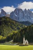 Saint Johann Church  Val di Funes  Trentino-Alto-Adige  Italy