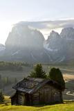 Cabins  Seiser Alm Sassolungo  Alpe di Siusi  South Tyrol  Italy