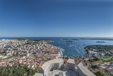 Croatia  Dalmatia  Hvar  Hvar Town and Castle from Hvar Castle