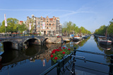 Canal  Amsterdam  the Netherlands  Holland