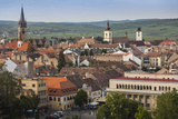 Romania  Transylvania  Sibiu  Elevated City View  Late Afternoon