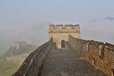 Great Wall of China on a Foggy Morning Jinshanling  China
