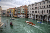 Boats Along the Grand Canal Venice  Italy