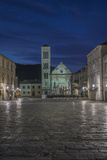 Croatia  Dalmatia  Hvar  St Stephen's Square at Dawn