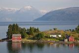 Small Island in Hardangerfjorden Nr Bergen  Western Fjords  Norway