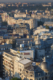 Romania  Bucharest  Lipscani  Old Town  Elevated View  Dawn