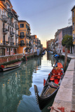 Gondolas Along the Canals of Venice  Italy