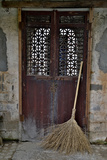 Hongcun Villiage  Doorway with Broom  China  UNESCO