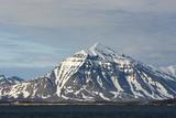 Norway Svalbard Spitsbergen Forlandsundet Snowy Mountains