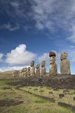 Chile  Easter Island  Rapa Nui NP  Ahu Tongariki Moi Statues