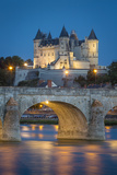 Twilight over the City of Maine-Et-Loire  Centre  France