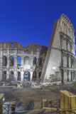 Italy  Rome  Twilight Colosseum