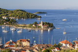Vis Town  Franciscan Monastery and Harbor  Vis Island  Croatia