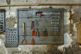 Tools on Wall in Old Repair Shop in Persembe Pazar  Istanbul  Turkey