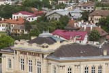 Romania  Danube River Delta  Tulcea  View with MGM Palace Club