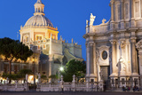 Exterior View of the Sant Agata Cathedral  Catania  Sicily  Italy